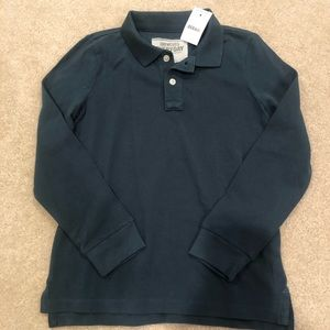 Crewcuts Boys long sleeve polo NWT size 8
